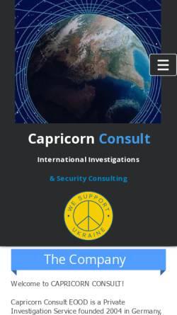 Vorschau der mobilen Webseite www.capricorn.cc, Capricorn Consult