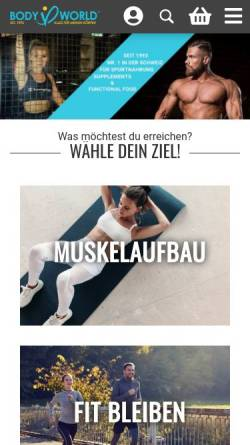 Vorschau der mobilen Webseite www.bodyworld.ch, Body-World