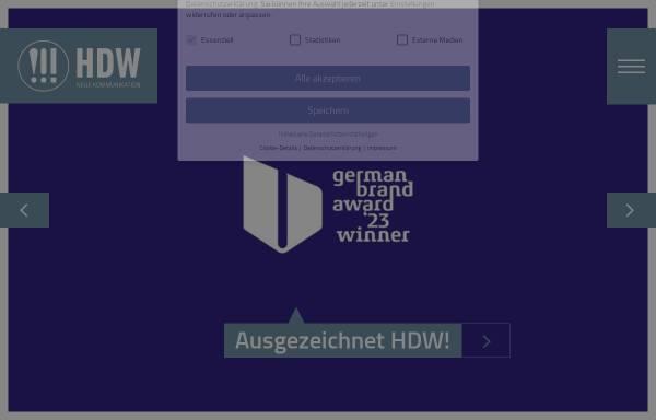 Vorschau von www.hdw1.de, HDW Hahn, Dittscheid, Weißmüller GmbH