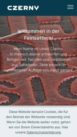Vorschau der mobilen Webseite lederdesign.de, Czerny, Ulrich Lederdesign