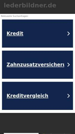 Vorschau der mobilen Webseite www.lederbildner.de, Lederbildner Karl Alwin Hofmann