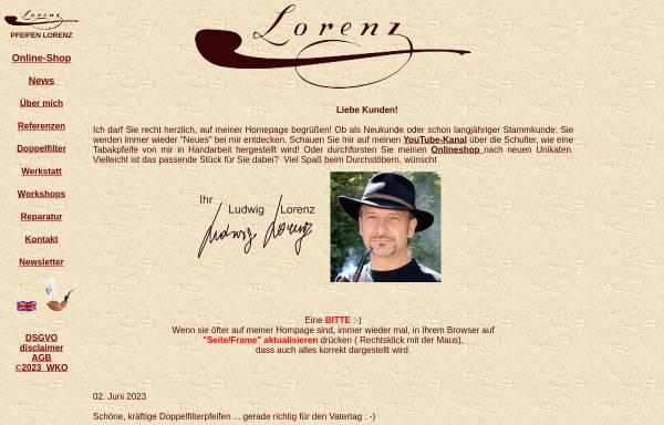 Vorschau von www.pfeifen-lorenz.com, Pfeifendesign Lorenz