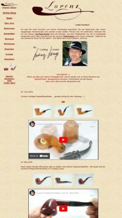 Vorschau der mobilen Webseite www.pfeifen-lorenz.com, Pfeifendesign Lorenz