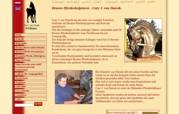 Vorschau von www.vandansik.com, Pferde Skulpturen Cary J. van Dansik