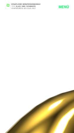Vorschau der mobilen Webseite www.berufsfachschule-neugablonz.de, Staatliche Berufsfachschule für Glas und Schmuck Kaufbeuren-Neugablonz