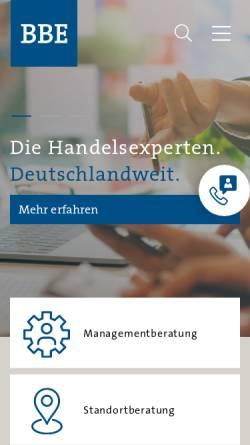 Vorschau der mobilen Webseite www.bbe-retail-experts.de, BBE Retail Experts Unternehmensberatung GmbH & Co. KG