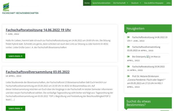 Vorschau von fsbio.rwth-aachen.de, Fachschaft Biologie an der RWTH Aachen