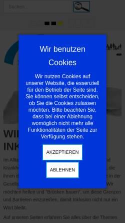 Vorschau der mobilen Webseite www.selbsthilfe-erlensee.de, Selbsthilfe Körperbehinderter Hanau - Gelnhausen e.V.
