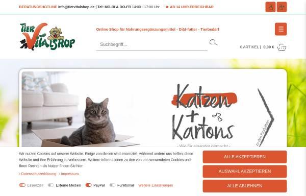 Vorschau von www.tiervitalshop.de, Tier Vital Shop, Petra Raab und Tierarzt Klaus Peter Raab GbR