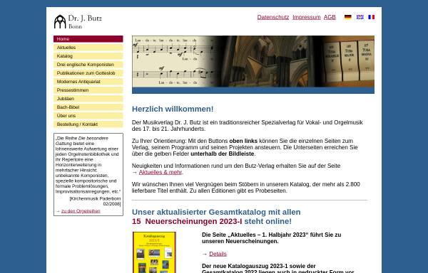 Vorschau von www.butz-verlag.de, Musikverlag Dr. J. Butz