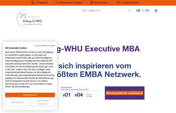Vorschau von kellogg.whu.edu, Kellogg-WHU Executive MBA Programm