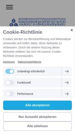 Vorschau der mobilen Webseite www.abc-tautenhahn.de, ABC Tautenhahn GmbH