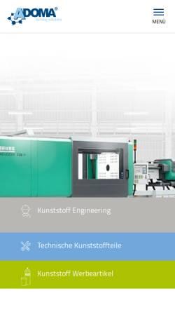 Vorschau der mobilen Webseite www.adoma.de, Adoma GmbH