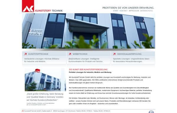 Vorschau von www.ak-kunststoff.de, AK Kunststoff Technik GmbH