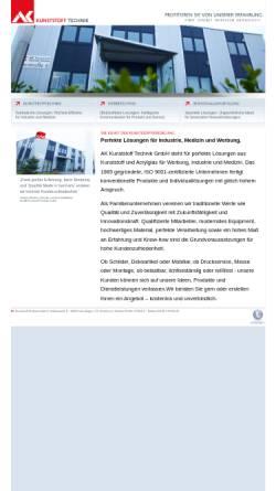 Vorschau der mobilen Webseite www.ak-kunststoff.de, AK Kunststoff Technik GmbH