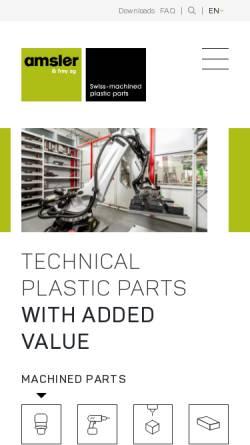 Vorschau der mobilen Webseite www.amsler-frey.ch, Amsler & Frey AG
