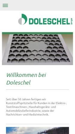 Vorschau der mobilen Webseite www.doleschel-gmbh.com, Doleschel GmbH