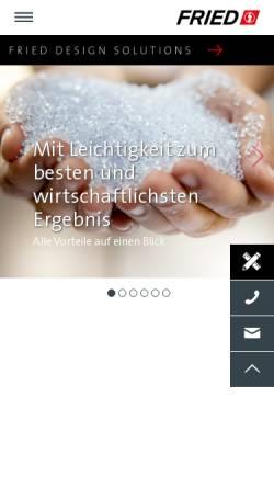 Vorschau der mobilen Webseite www.fried.de, Fried Kunststofftechnik GmbH