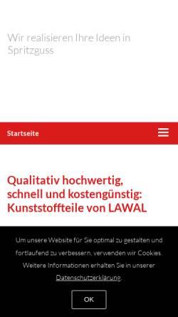 Vorschau der mobilen Webseite www.lawal.de, Lawal Kunststoffe GmbH