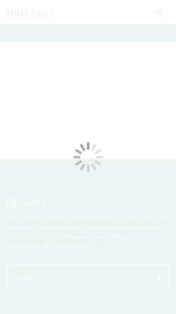Vorschau der mobilen Webseite www.mba-net.de, Online Ressource für MBA-Bewerber