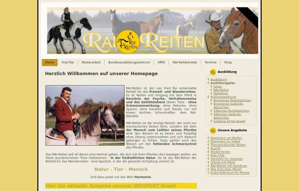Vorschau von www.rai-reiten.de, Rai-Reiten