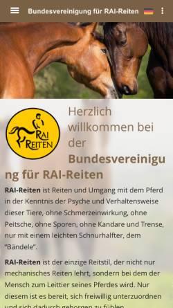 Vorschau der mobilen Webseite www.rai-reiten.de, Rai-Reiten