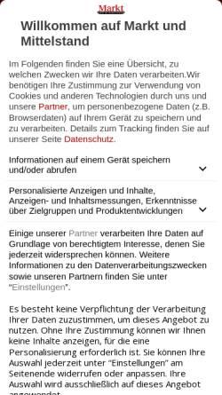 Vorschau der mobilen Webseite www.marktundmittelstand.de, Markt und Mittelstand - Frankfurt Business Media GmbH