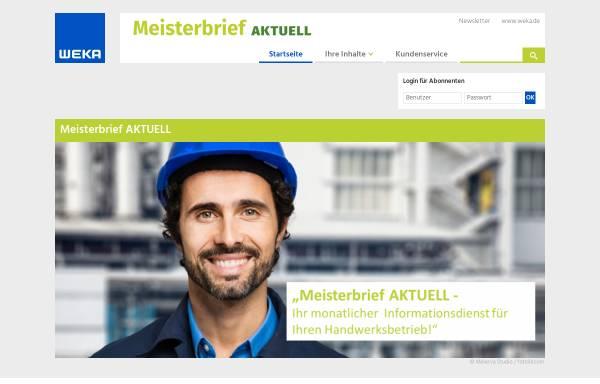 Vorschau von www.meisterbrief-aktuell.de, Meisterbrief aktuell - Weka Media GmbH & Co. KG