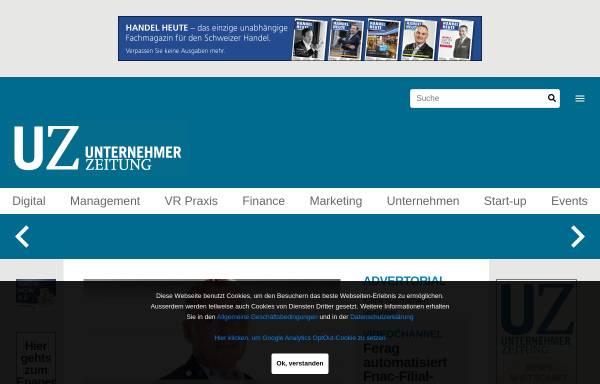 Vorschau von www.unternehmerzeitung.ch, Unternehmerzeitung - Swiss Businesspress SA