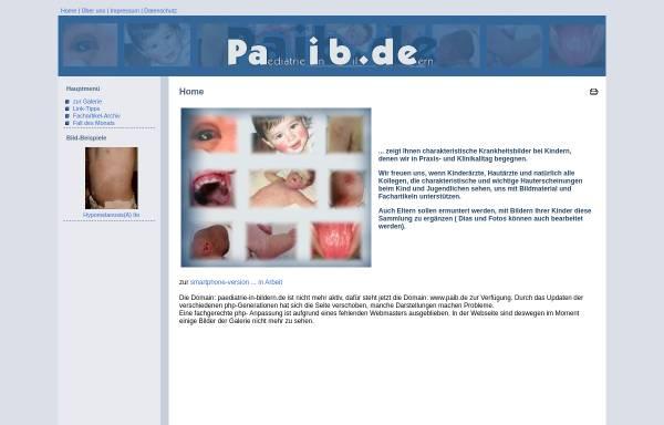 Vorschau von www.paib.de, Pädiatrie in Bildern