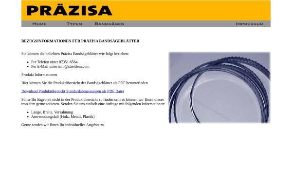 Vorschau von www.praezisa-jaennsch.de, Präzisa-Qualitätswerkzeuge KG