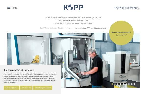 Vorschau von www.kopp-schleiftechnik.de, Kopp-Schleiftechnik GmbH