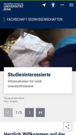 Vorschau der mobilen Webseite www.fsr-igw.uni-jena.de, FSR-Institut für Geowissenschaften Friedrich-Schiller Universität Jena