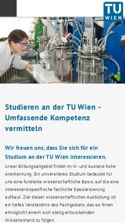 Vorschau der mobilen Webseite studium.tuwien.ac.at, Gedoäsie und Geoinformation an der TU Wien