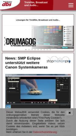 Vorschau der mobilen Webseite www.dbsys.de, DBS GmbH