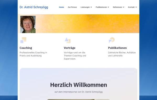 Vorschau von www.schreyoegg.de, Dr. phil., Dipl.-Psych. Astrid Schreyögg