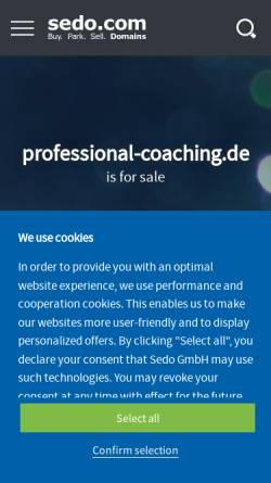 Vorschau der mobilen Webseite www.professional-coaching.de, Perspektivenwechsel GmbH - Gesellschaft für Kulturentwicklung und Führungsberatung