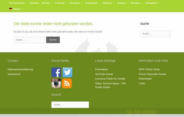 Vorschau von www.drei-hunde-nacht.eu, Homöopathie für Hunde