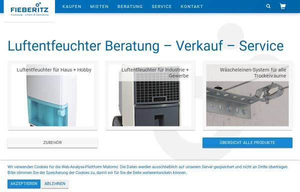 Vorschau von www.fieberitz.de, Stephan Fieberitz Entfeuchtungstechnik