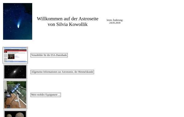 Vorschau von silvia-kowollik.de, Astrofotografie [Kowollik, Silvia]