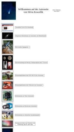 Vorschau der mobilen Webseite silvia-kowollik.de, Astrofotografie [Kowollik, Silvia]