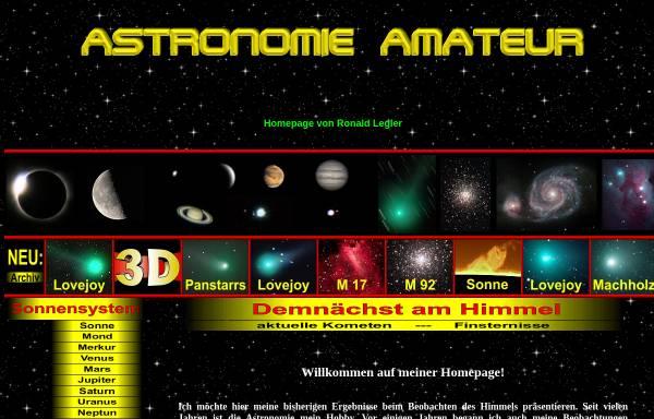 Vorschau von www.astronomie-amateur.de, Astrofotografie [Legler, Ronald]