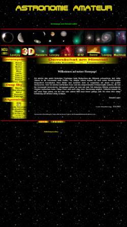 Vorschau der mobilen Webseite www.astronomie-amateur.de, Astrofotografie [Legler, Ronald]