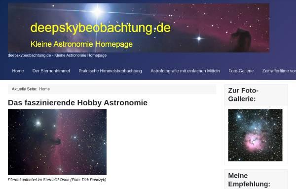 Vorschau von www.deepskybeobachtung.de, Astrofotografie [Panczyk, Dirk]