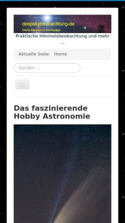 Vorschau der mobilen Webseite www.deepskybeobachtung.de, Astrofotografie [Panczyk, Dirk]