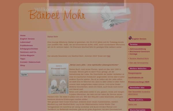 Vorschau von www.baerbelmohr.de, Bärbel Mohr