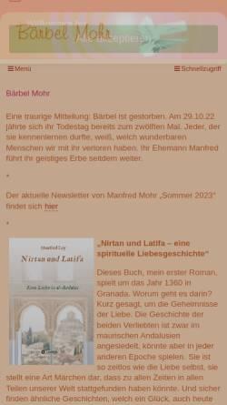 Vorschau der mobilen Webseite www.baerbelmohr.de, Bärbel Mohr