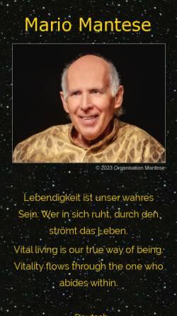 Vorschau der mobilen Webseite www.mariomantese.com, Mario Mantese