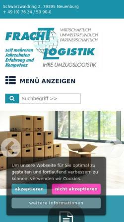 Vorschau der mobilen Webseite www.moebel-umzugs-zentrale.de, Möbel-Umzugs-Zentrale