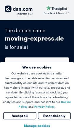 Vorschau der mobilen Webseite www.moving-express.de, Moving Express